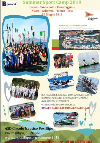 Summer Sport Camp 2019 Campus Estivo Posillipo