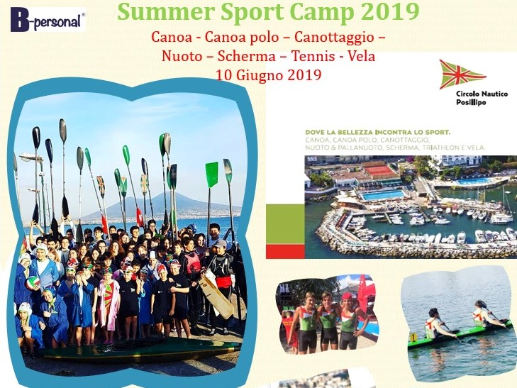 Summer Sport Camp 2019 Campus Estivo Posillipo Head
