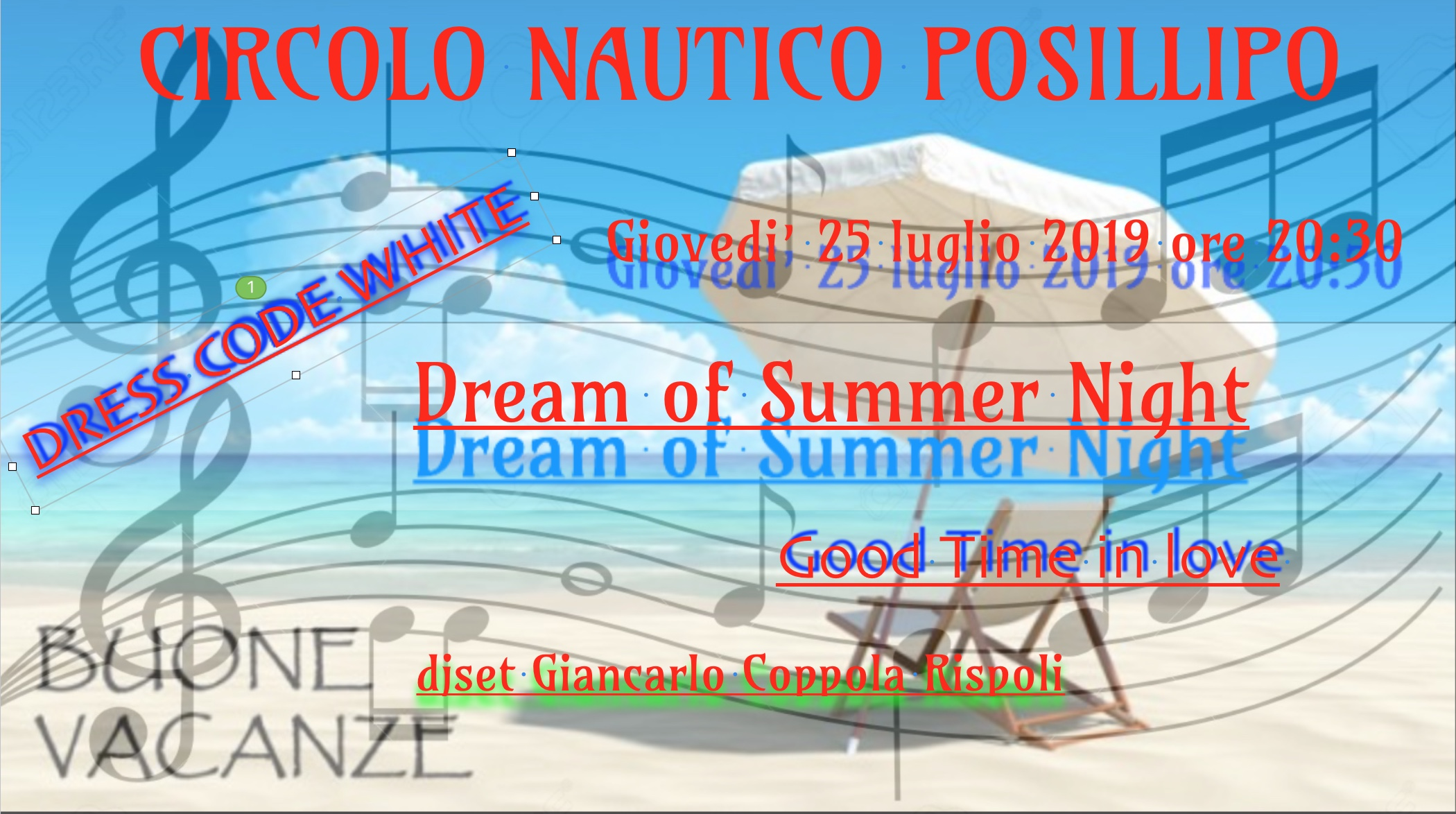Locandina del 25 luglio 2019 Dream of Summer Night