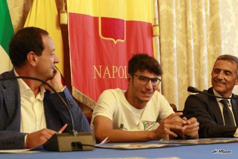 Marco Magliocca durante la conferenza stampa al Comuni di Napoli