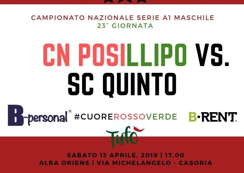 Posillipo vs Quinto 13 aprile 2019 Header