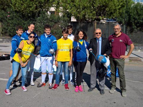 Il Gruppo Scherma con Sergio Roncelli