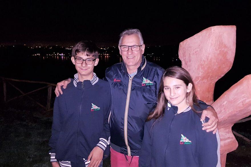 Aldo Cuomo, Simone e Giulia Rosiello ad Ariccia
