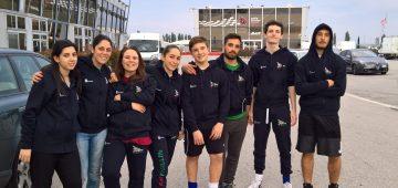 da sinistra: Gaia Scaperrotta, Francesca Cuomo, Cristiana Palumbo, Gaia Leonelli, Andreas Heim, Ettore Saetta, Bruno de Vero, Christian Heim.