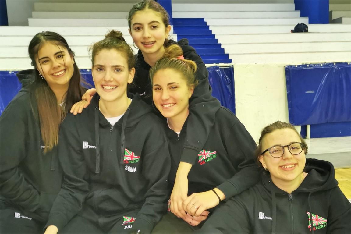 Le cinque qualificate ai regionali di Caserta 2019