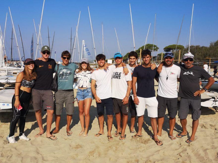 Follonica - CICO 2020 - CAMPIONATI ITALIANI CLASSI OLIMPICHE - LA Squadra della V Zona