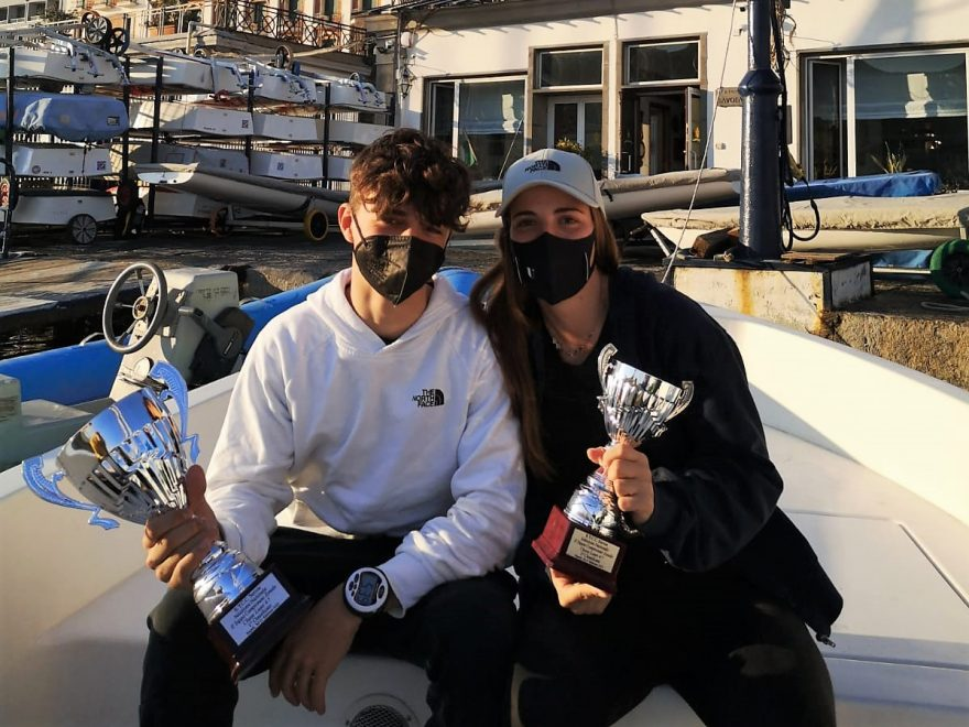 Dylan Parisio primo classificato e Maria Francesca Autiero terza classificata in Laser 4.7