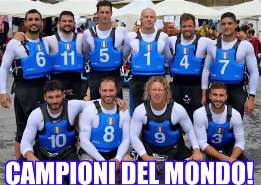 Squadra Canoa Polo Campione del Mondo