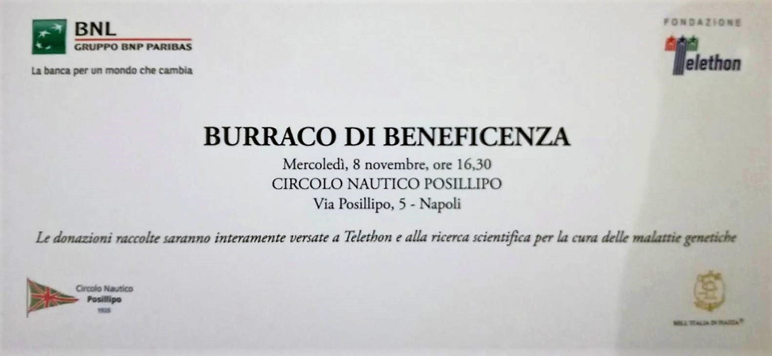 burraco beneficenza