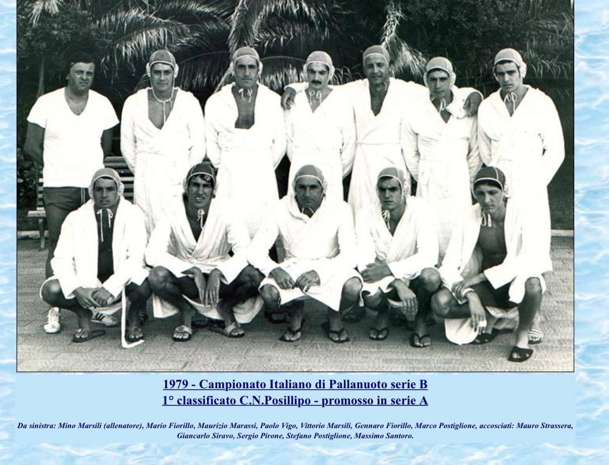Posillipo Promosso in serie A 1979 con Vittorio Marsili