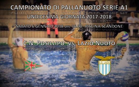 Locandina Pallanuoto Posillipo vs Lazio