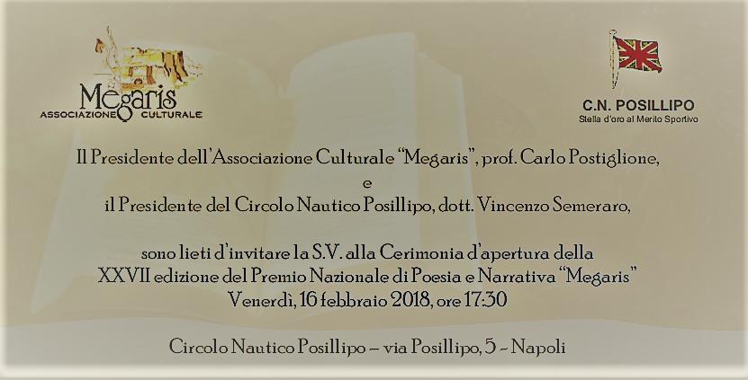 Premio Megaris 2018 invito