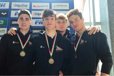 Luigi Crisci, Roberto Frigerio, Emanuele Russo e Lorenzo Tuccillo