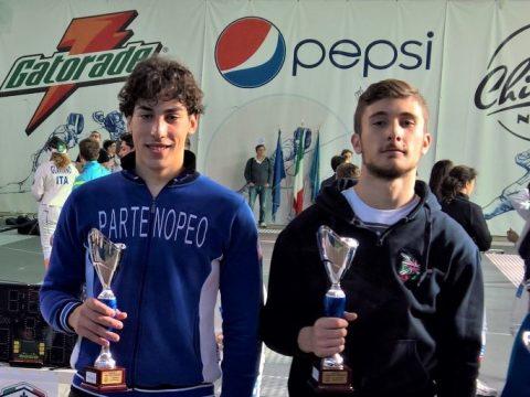 San Nicola Coppa Italia 2018 Christian Heim (al centro) Podio con Vincenzo Giunta-rid