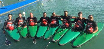La squadra di Canoa Polo del Posillipo