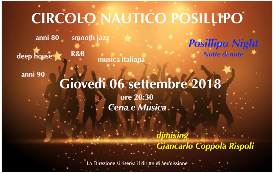Musica e cene 6 settembre 2018