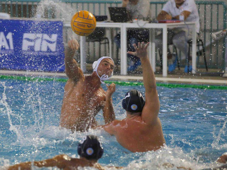 durante .la partita di pallanuoto serie a! tra CN Posillipo - Trieste alla piscina comunale di Casoria  27 ottobre 2018