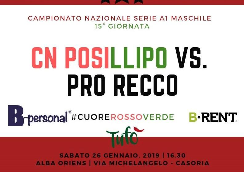 Posillipo vs Pro Recco locandina