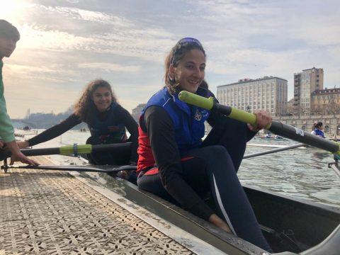 Cristina Annella con Merlino - inverno sul Po 2020 (1)