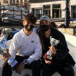 Dylan Parisio primo classificato e Maria Francesca Autiero terza classificata in Laser 4.7