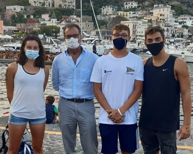 Da sinistra Esposito il vicepresindete sportivo del CNP Antonio Ilario Amoroso e Lubrano Lobianco