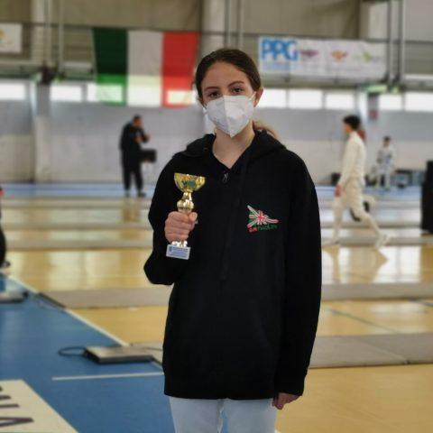 Maria Elena Sanges Podio 2021GpG Under 14 a Casagiove maggio 2021