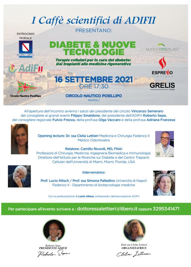 EVENTO 16 SETTEMBRE- diabete e nuove tecnologie